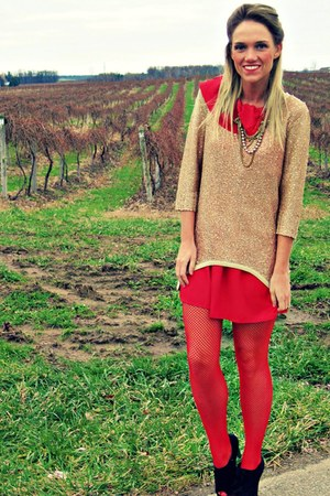 red Urban Outfitters tights