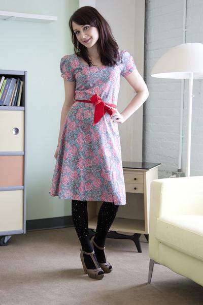 modcloth dress - modcloth tights - modcloth heels