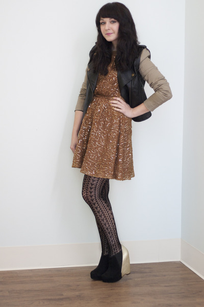 bronze sequins Shimmering Stars Dress dress