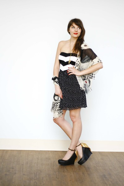 black My Heart Goes Pitter-Pattern Dress dress