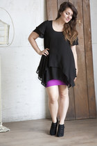 black flowy black Fly By Night Dress dress