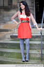 Salmon-modcloth-dress-light-pink-modcloth-blazer-periwinkle-modcloth-tights
