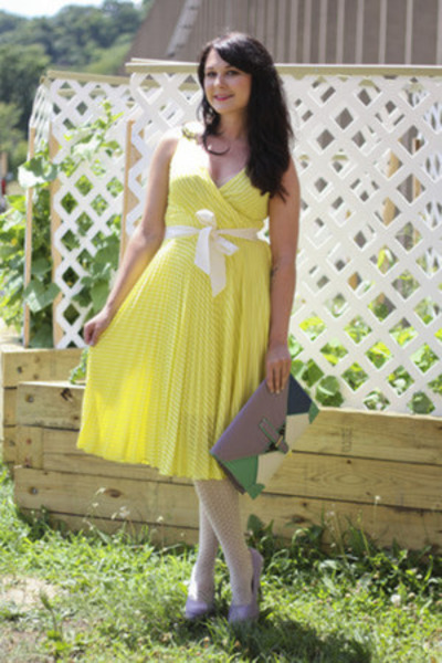 modcloth dress - modcloth bag - modcloth heels
