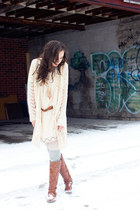 neutral chiffon shift unknown dress - tawny riding Call it Spring boots