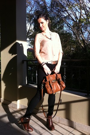 J Brand jeans - Zara shirt - Mulberry bag