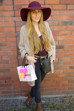 Primark hat - Dr Denim jeans - H&M cardigan - Jeffrey Campbell heels