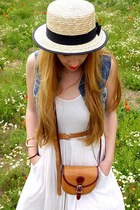 H&M dress - boutique belgique hat - Vera Pelle bag - Levis vest - H&M belt - Bim