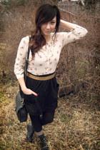 black f21 skirt
