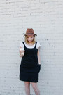 Brown-target-hat-black-forever-21-jumper