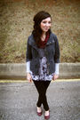Gray-bb-dakota-jacket-black-delias-leggings-purple-madden-girl-shoes