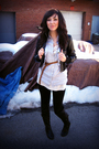 Black-bhpc-jacket-blue-f21-blouse-white-f21-top-black-delias-leggings-bl