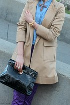 Topshop shirt - H&M coat - Michael Michael Kors bag - Forever 21 pants
