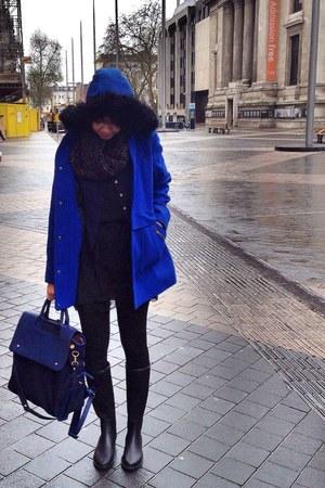 blue Primark coat