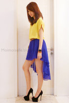 MoiMoiselle skirt - silk Mango top - Giuseppe Zanotti heels
