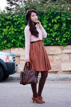 dark brown H&M skirt