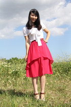 coral Dahlia skirt