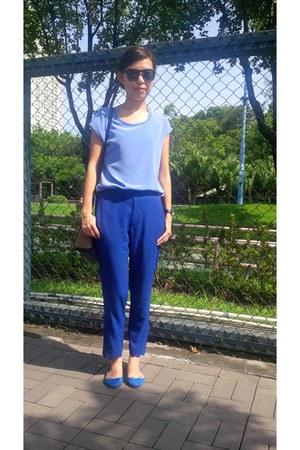 blue Zara flats