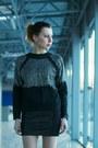 Hot-pink-ramones-atmosphere-coat-black-leather-mini-zara-skirt