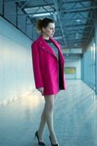 hot pink ramones Atmosphere coat - black sequined Zara sweatshirt