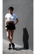 Cheap Monday shoes - Finders Keepers shorts - Topshop top