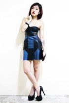 Nasty Gal dress - maison martin margiela bag - Jennifer Chou heels