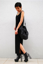 H&M x MMM necklace - Jeffrey Campbell boots - dress - Alexander Wang bag