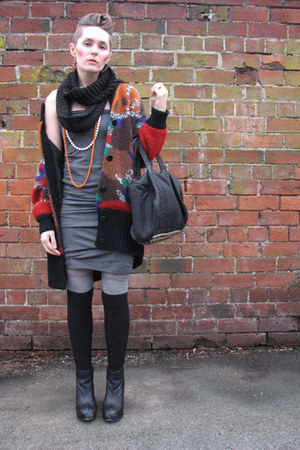 Thrift Store dress - Alexander Wang bag - new look socks - pixie Jeffrey Campbel