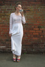 Lace-maxi-thrifted-vintage-dress-dune-wedges