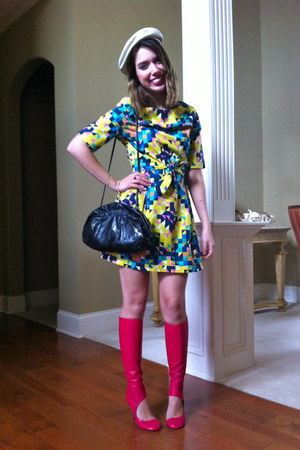 chartreuse tory burch dress - bubble gum maison martin margiela boots