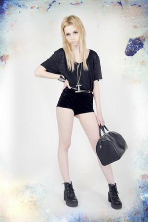 asos bracelet - Modekungen boots - Louis Vuitton bag - Urban Outfitters shorts