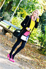 Black-valentino-bag-yellow-zara-blazer-hot-pink-jane-norman-skirt