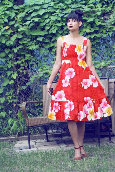 floral dress morningthrift dress