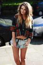 Insight-denim-cutoffs-shorts-forever-21-aztec-hoodie-top