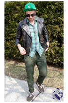 dark green le chateau shirt - dark brown Urban Outfitters shoes