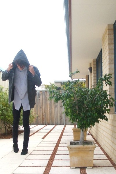 Revival jacket - em shirt - Cheap Monday jeans - zu shoes - dangerfield tiger pa