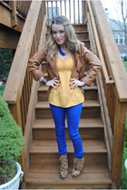 leopard print Steve Madden boots - faux silk Target blouse