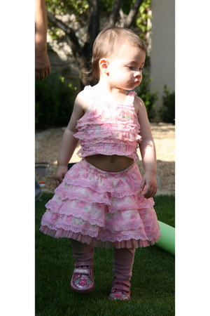 bubble gum lace Beetlejuice lodon top - bubble gum lace Beetlejuice lodon skirt