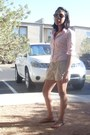 Light-pink-pink-button-up-zara-blouse-linen-tie-up-be-bop-shorts