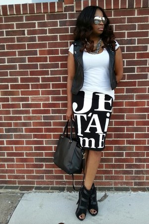 black bodycon skirt Forever 21 skirt