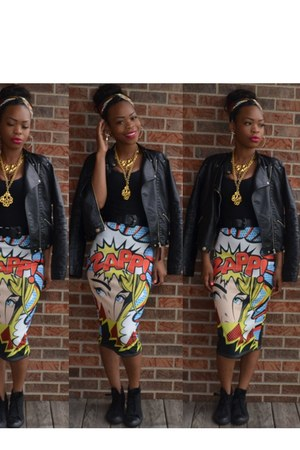 comic Bossy Snob skirt