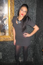 Heather-gray-dress-silver-accessories-black-stockings-black-necklace