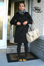 Black-jacket-heather-gray-tights-mustard-shoes-beige-heather-gray-access