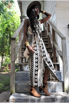 vintage hat - ryder Beginnig Boutique boots - dress - bag