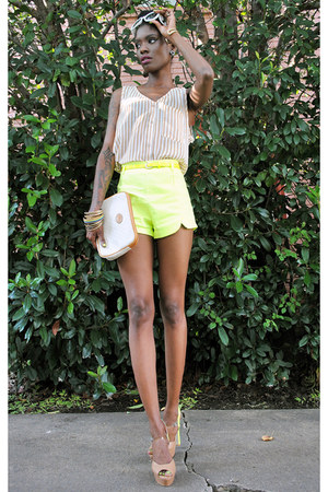 stacked Lulus bracelet - beginning boutique shoes - bag - romwe shorts