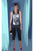 Charlotte Russe shoes - American Apparel leggings -  top -  t-shirt - Target sun