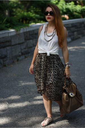 B Makowski bag - Urban Outfitters sandals - Forever 21 skirt - Express top