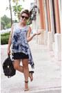 Black-perlina-bag-periwinkle-sample-sale-blouse-tan-nine-west-sandals