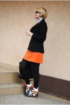 Zara blazer - Zara skirt - storets sneakers