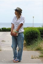 H&M jeans - H&M shirt - BLANCO bag - Uterque ring