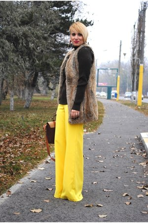 DIY pants - new look bag - Zara vest